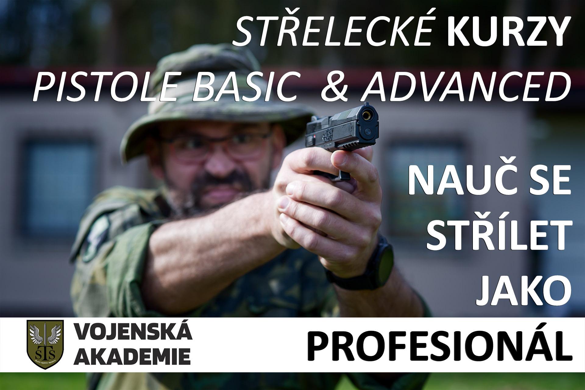 Střelecké kurzy - pistole Basic a Pistole Advanced